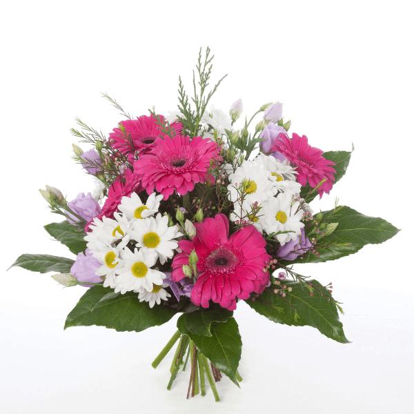 זר פרחים גרברות עם חרציות
